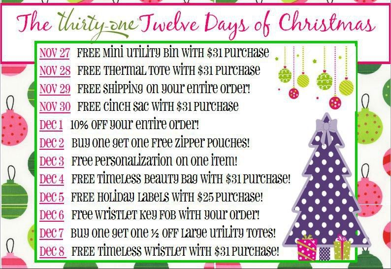 Small Business Christmas Party Ideas Part - 36: ThirtyOne Twelve Days Of Christmas Gift Ideas