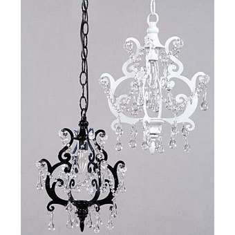 Simply black and white chandeliers pinterest mini chandelier noir glamour mini pendant chandelier but i want it in an unexpected color aloadofball Images
