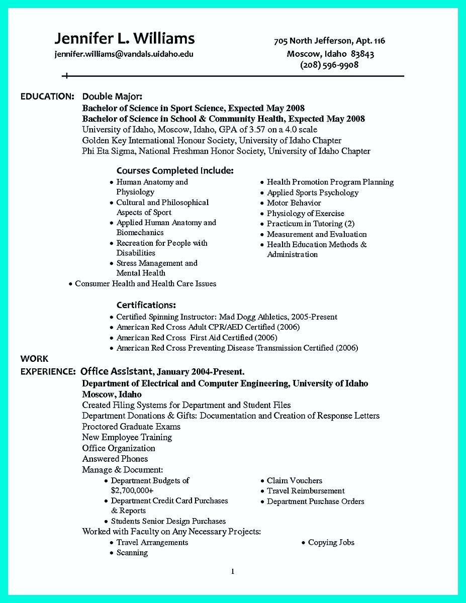 Awesome Making Simple College Golf Resume With Basic But Effective Information Check More At Http College Resume Job Resume Examples College Resume Template