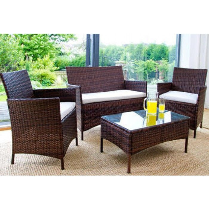 Charming Buy Rattan Effect 4 Seater Garden Patio Furniture Set   Black At  Argos.co.uk, Visit Argos.co.uk To Shop Online For Garden Table And Chair  Sets, Garu2026