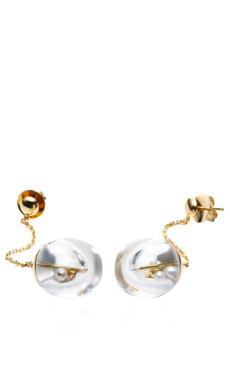 Memorabilia Chandelier Earrings by  for Preorder on Moda Operandi