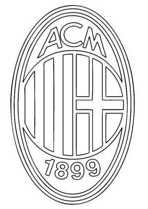 brazil soccer logo coloring pages | AC Milan Logo Soccer Coloring Pages - Voetbal, Kleurplaten ...