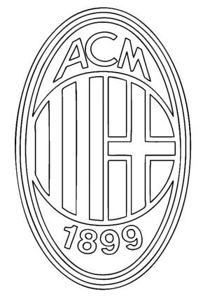 Ac Milan Logo Soccer Coloring Pages Coloring Pages Football