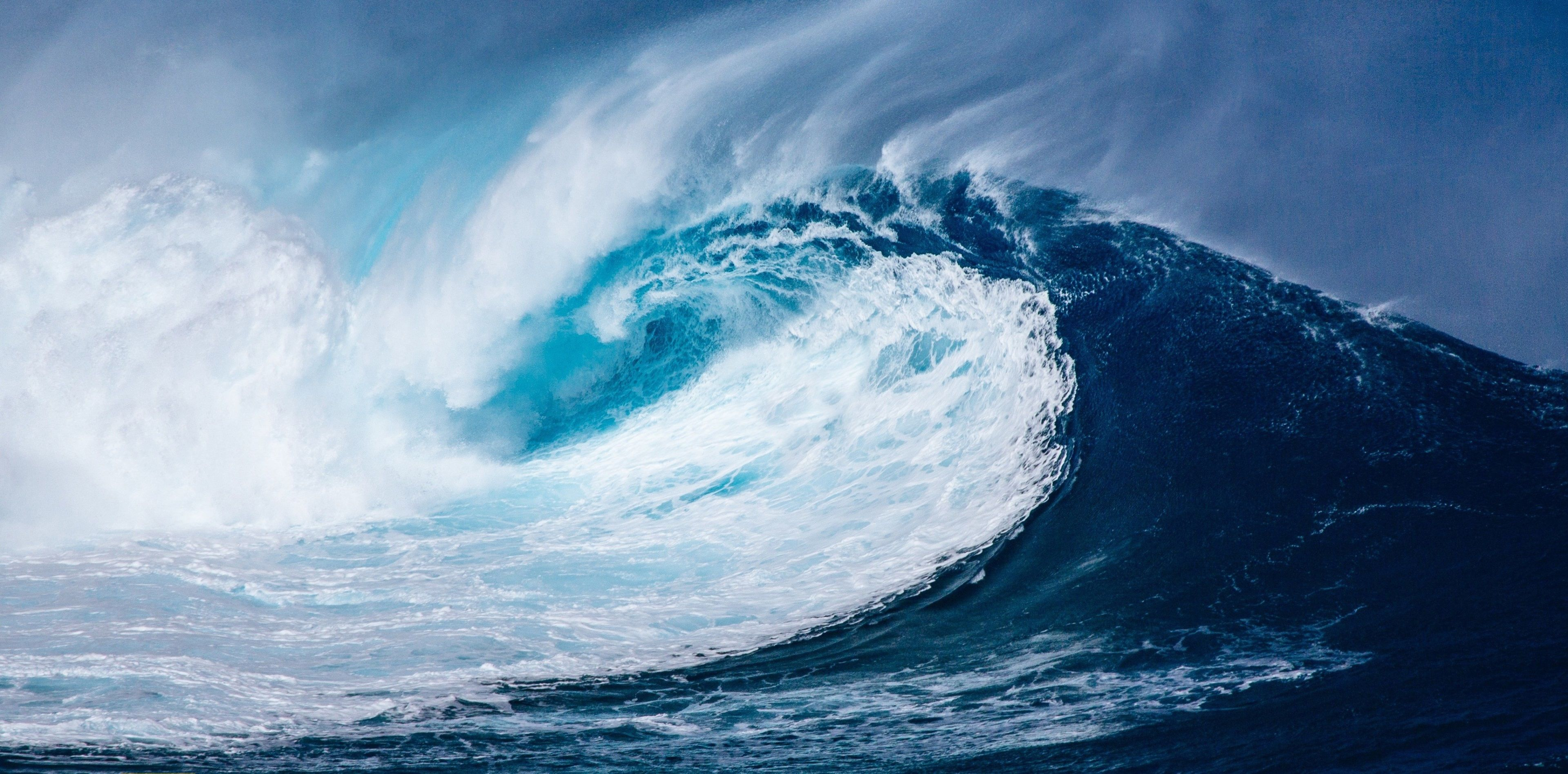 3840x1895 tidal waves 4k desktop wallpaper for computer