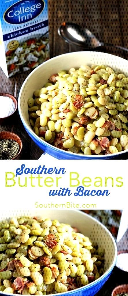 Butter Beans with Bacon  This classic Southern Recipe for Butter Beans with Bacon is a generations