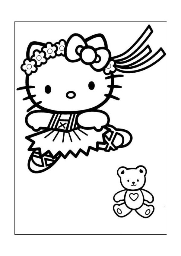 Dibujos para Colorear Hello Kitty 5 | Hello Kitty Coloring Pages ...