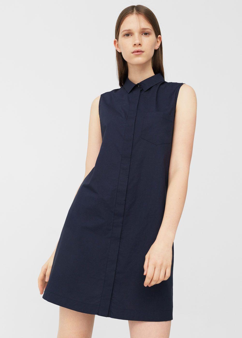 Vestido camisero algodón Mujer | Vestidos de moda