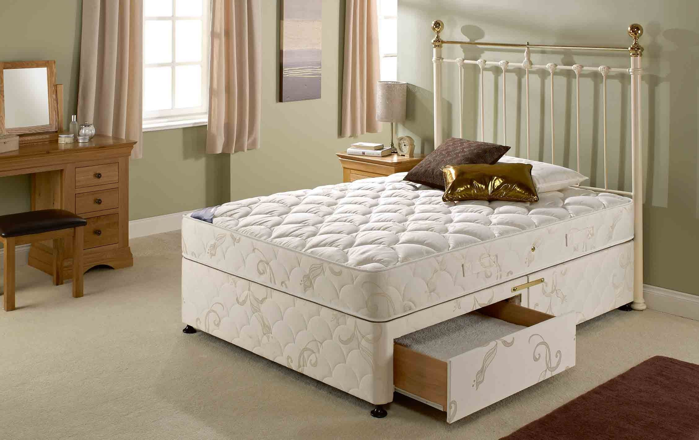 Topaz Divan Bed 2 Free Drawers Bed, Bed factory, Home