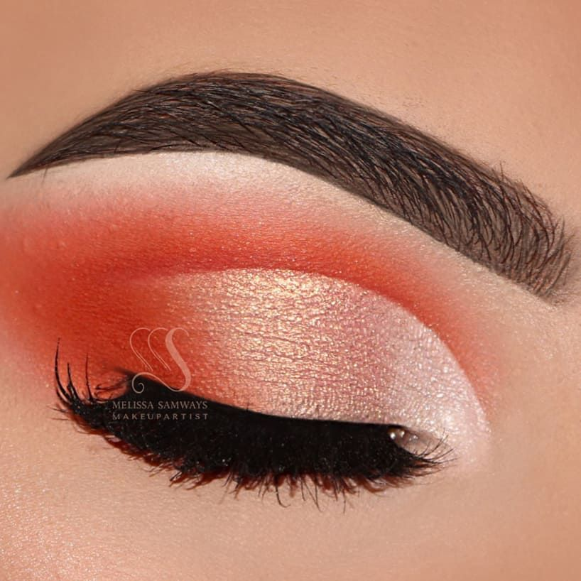Shades of burnt orange eyeshadow eye makeup