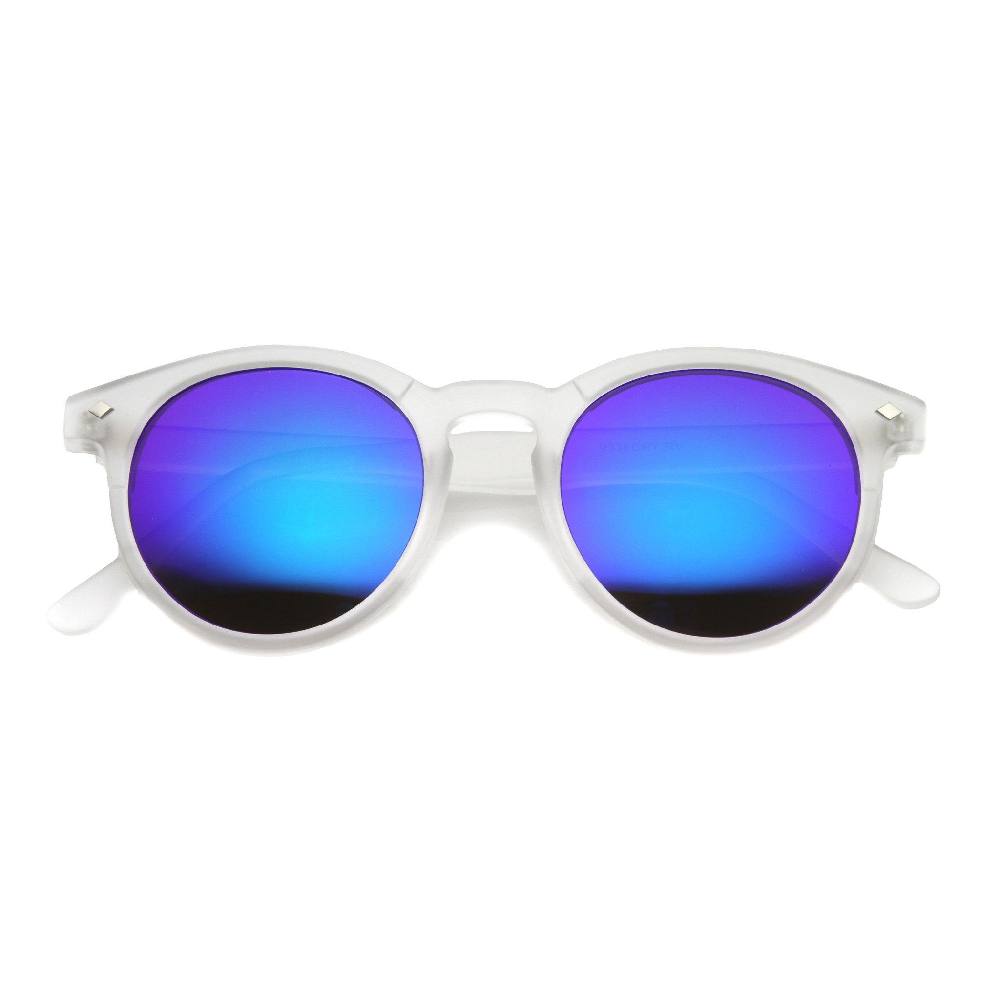 5296c3976224c Retro P3 Round Flash Color Mirrored Lens Colorful Sunglasses 8932