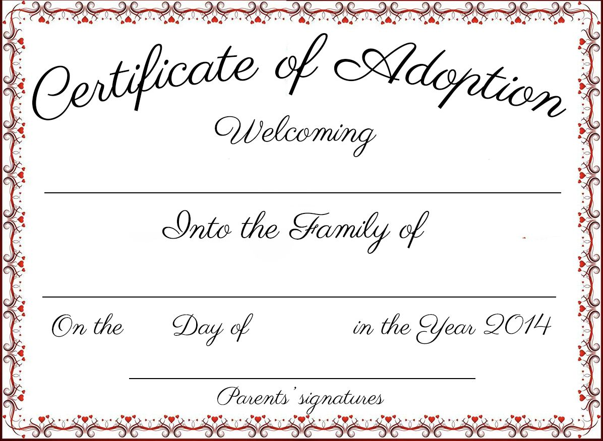 Best Free Printable Adoption Papers in 2020 Adoption
