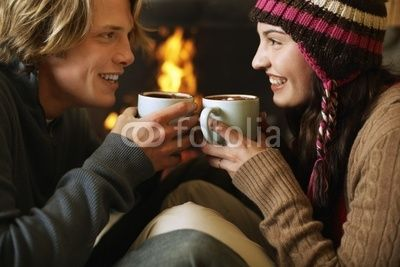 Young Couple Drinking Hot Chocolate by Fotolia XXI, Royalty free ...