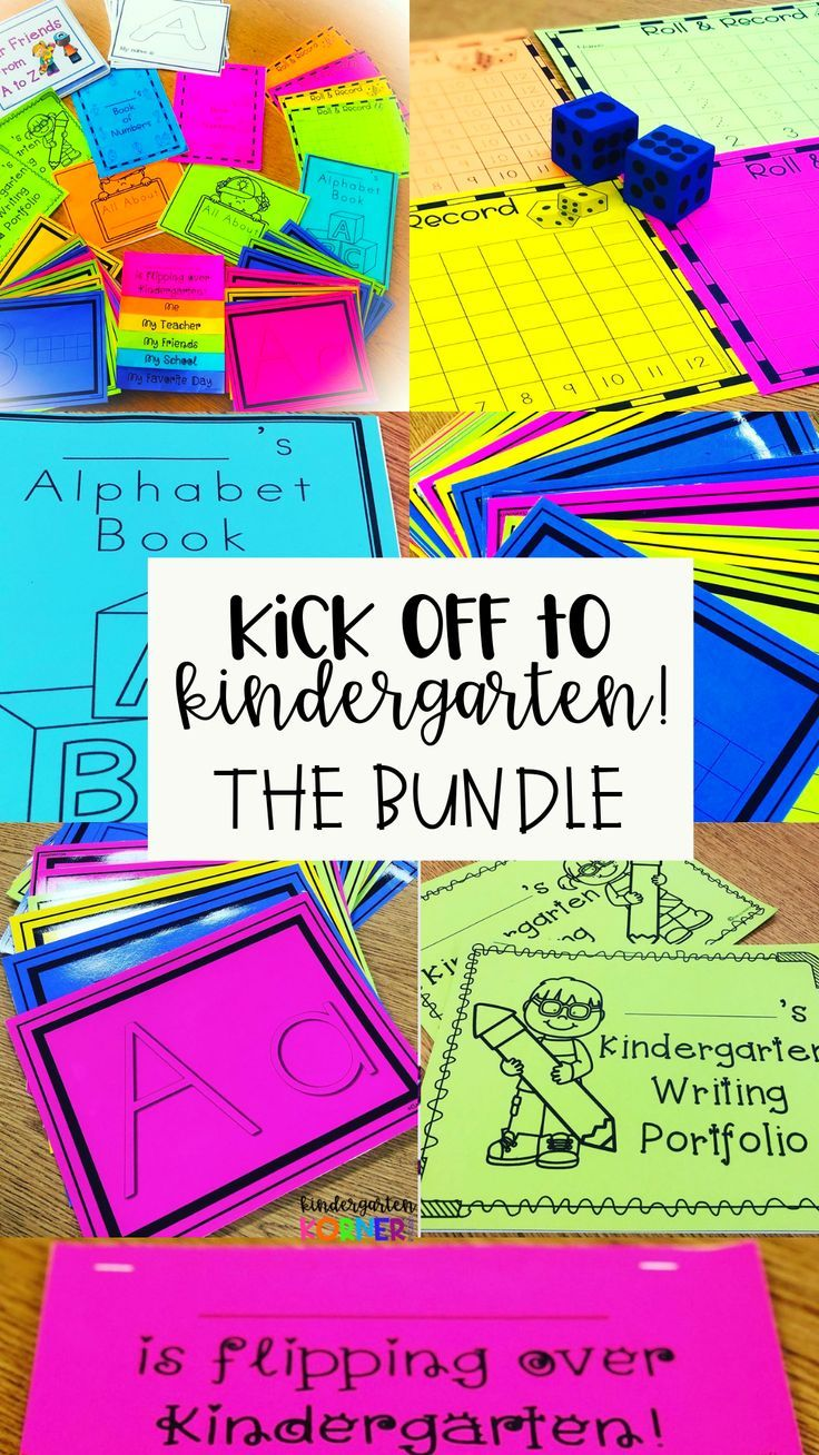 Kick Off to Kindergarten Top 10 Resources is part of Kindergarten activities, Kindergarten resources, School activities, Kindergarten, Teaching kindergarten, Activities - This Kick Off to Kindergarten Beginning of the Year Basics BUNDLE includes 10 products that will help to get your school year off to a smooth start!
