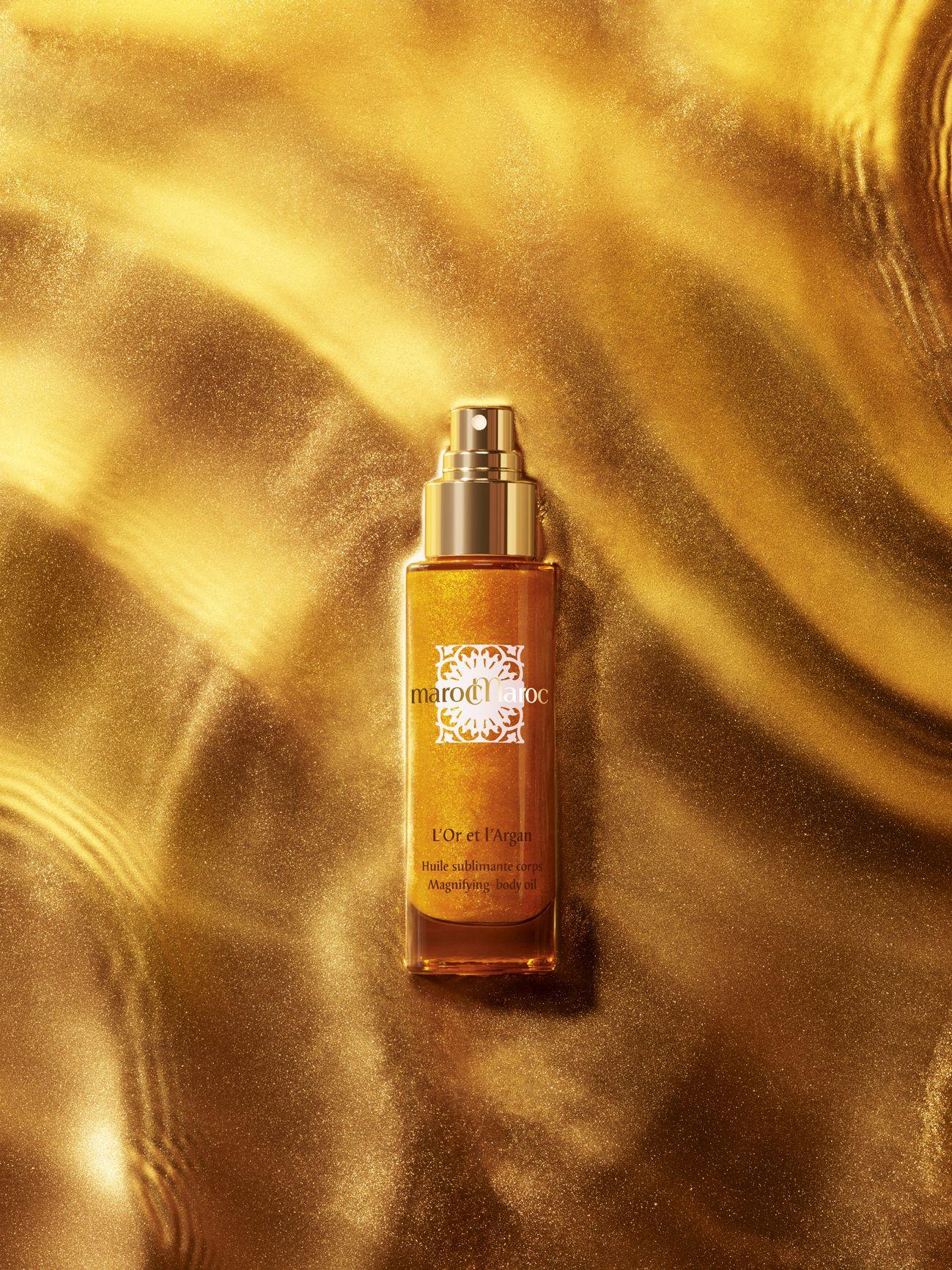 Texture Body Oil L'Or et l'Argan marocMaroc luxury cosmetics beauty skincare morocco spa