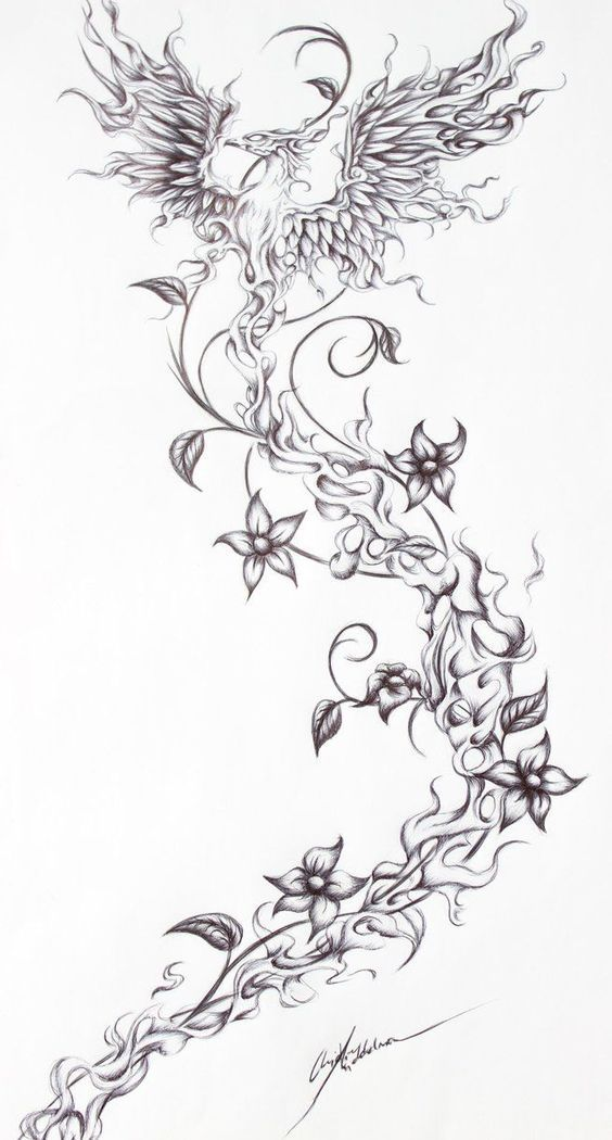 girly rising phoenix tattoo girly phoenix tattoos phoenix