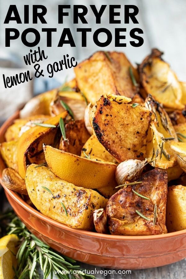 Introducing your new favourite potato recipe …. golden, crispy, herby, Lemon Garlic Air Fryer Roa