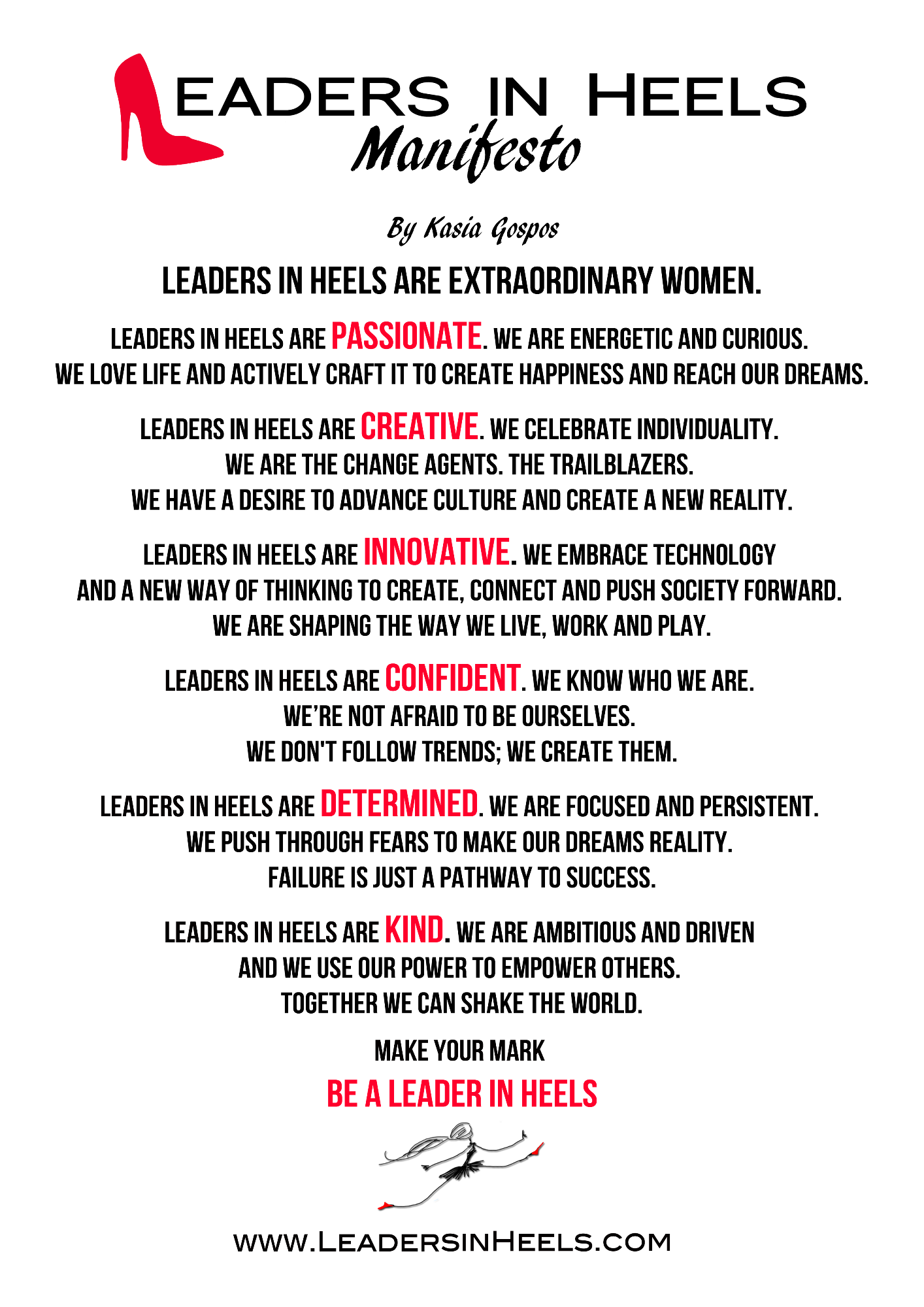 Success Quotes For Women Our Manifesto  Leaders In Heels  For Successful Women In