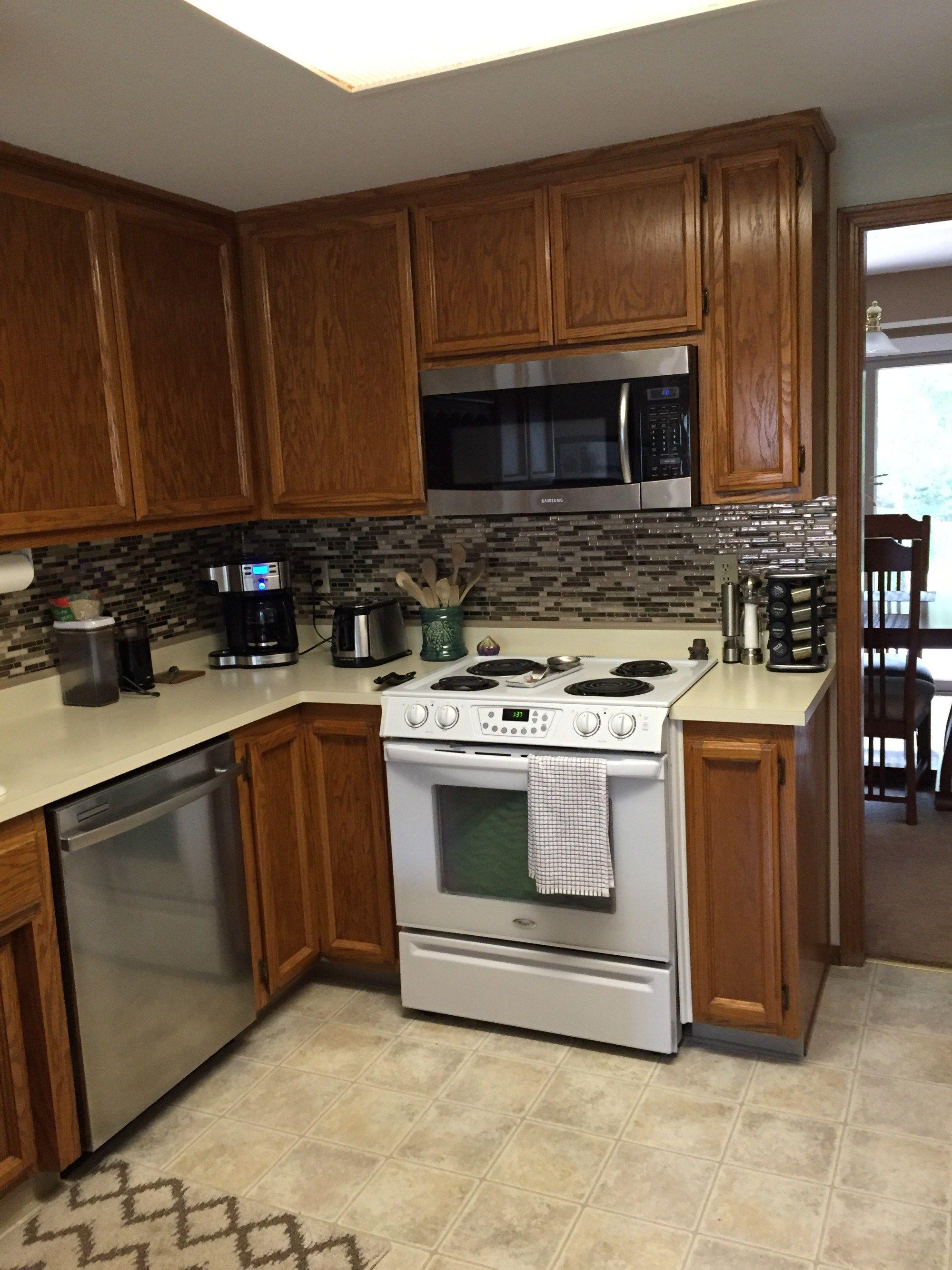 Vinyl Tile Backsplash Quick And Easy Kitchen Upgrade Vinyl Tile
