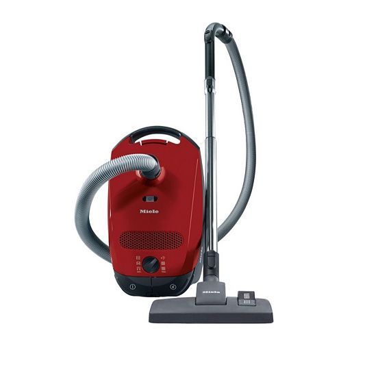 bagless 1400W red upright vacuum cleaner