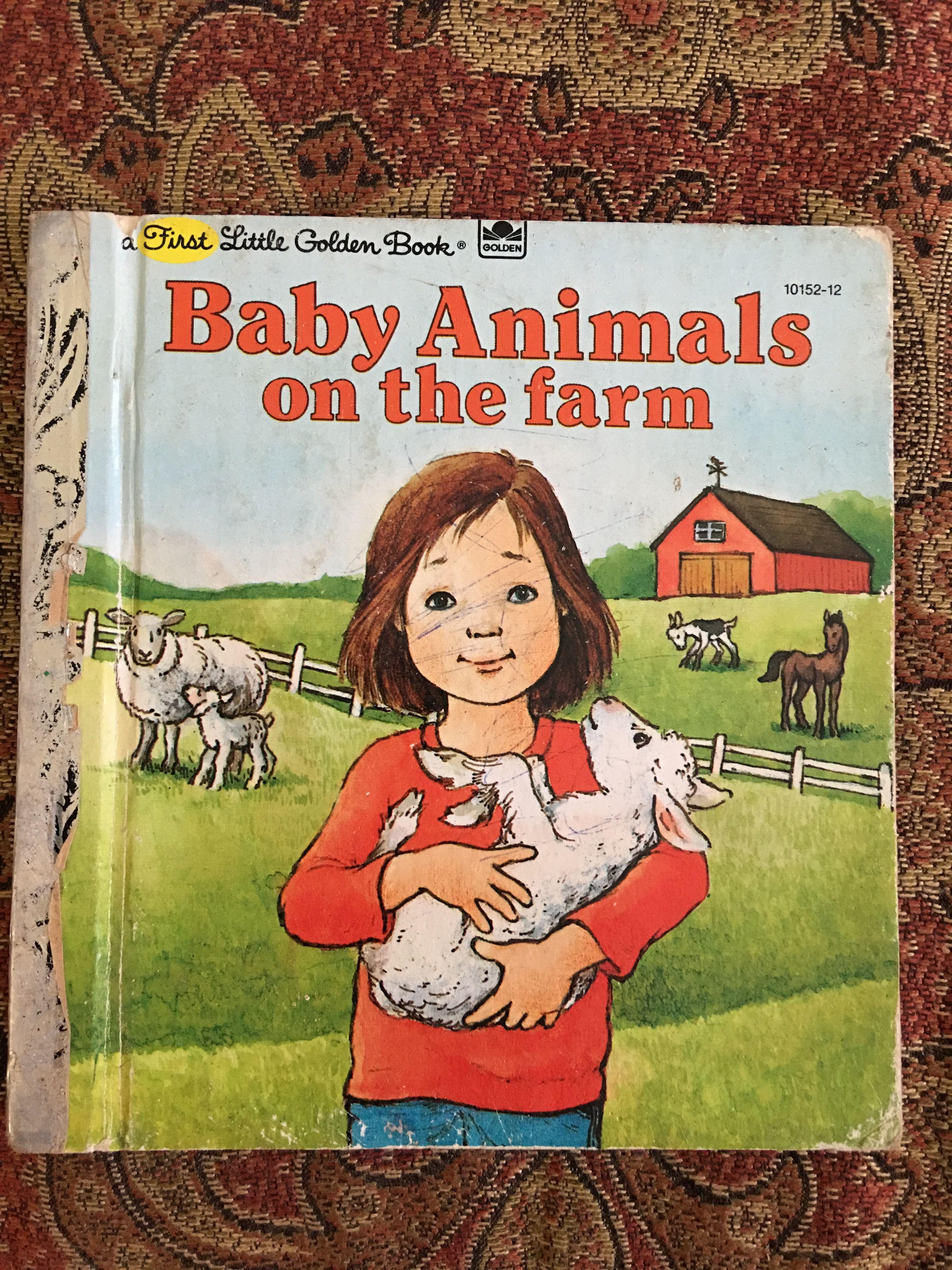 Baby animals on the farm 1981 little golden books farm