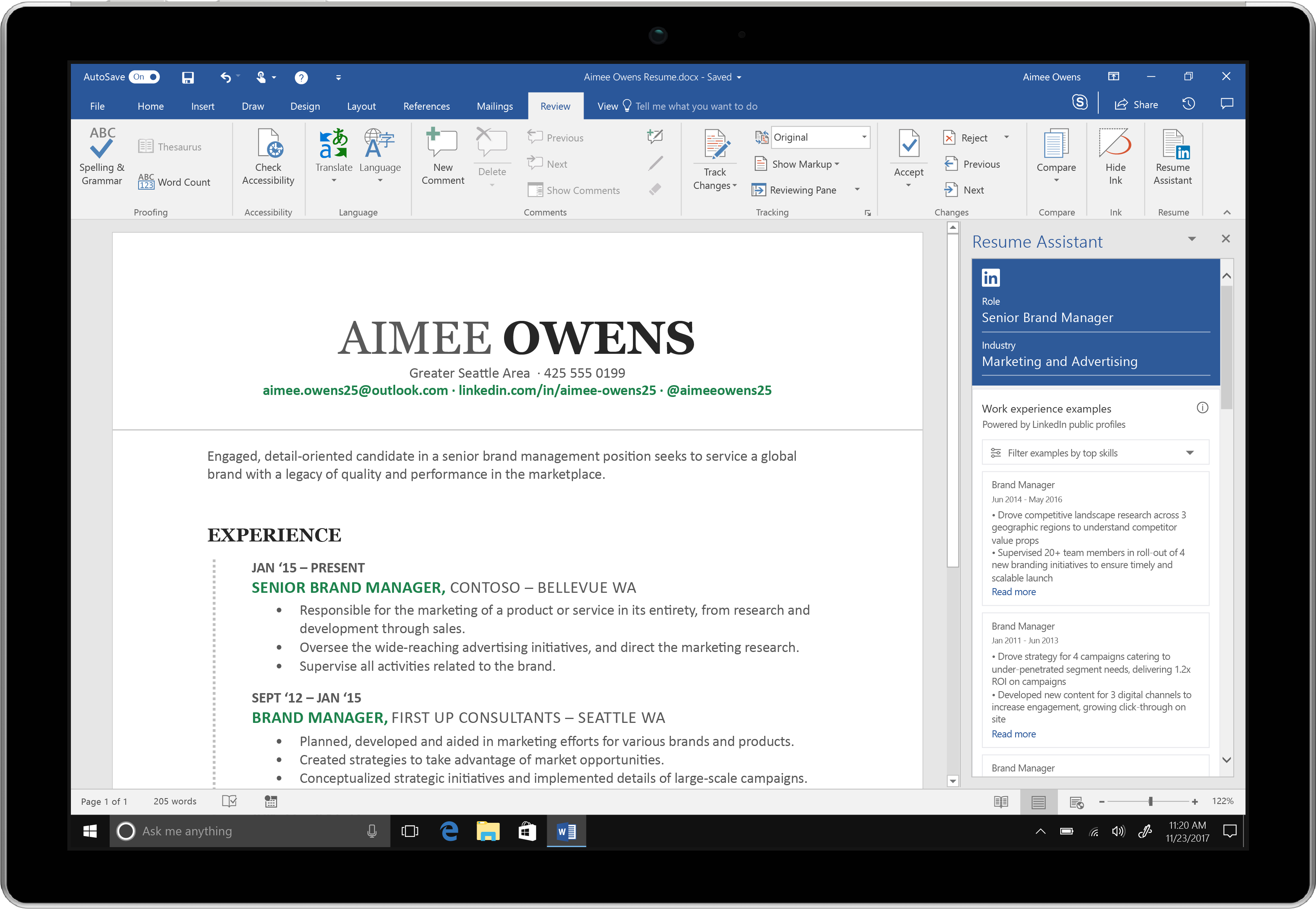 Microsoft Word adds LinkedInpowered Resume Assistant to