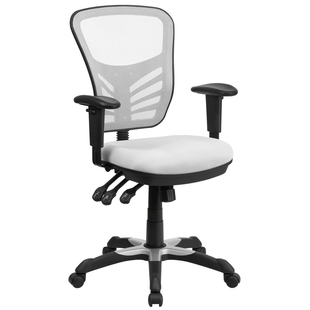 White Mesh Swivel Task Chair