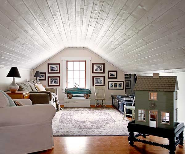 What Does It Take To Make It To The Top Take A Tour Inside This Charming Craftsman And See Attic Renovation Attic Remodel Attic Rooms