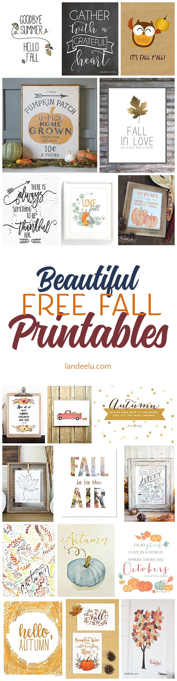 20 Free Fall Printables For Your Home   Fall decor, Cricut and ...