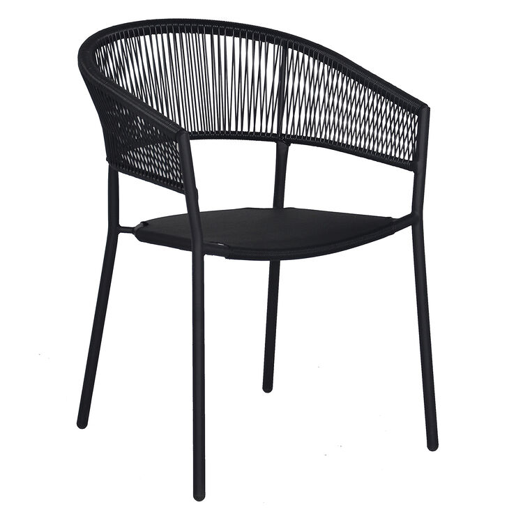 Brody Curve Back Single Armrest Wicker Chair