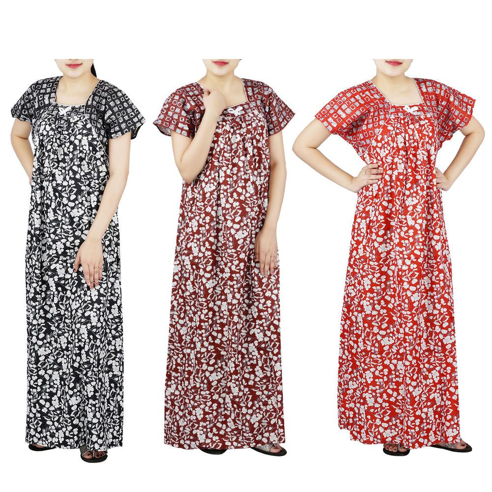 e38471d0 Women Dress Long Indian Cotton Nighty Night Sleepwear Gown Maxi Printed New  #fashion #clothing #shoes #accessories #womensclothing #maternity (ebay  link)