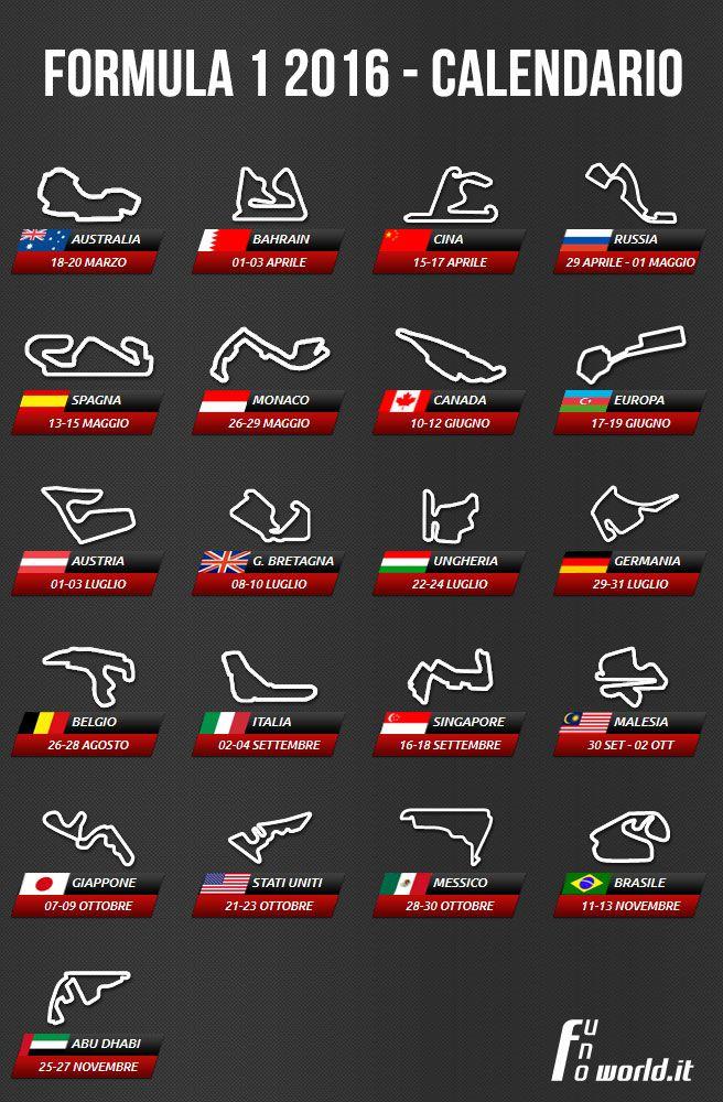 Formula 1 Calendario.Calendario Formula 1 2016 F1 Formula 1 Car Formula 1