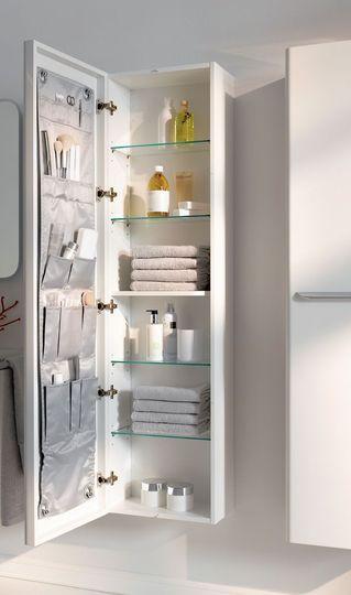 salle de bains des rangements au top pour gagner de la place colonne de rangement rangement. Black Bedroom Furniture Sets. Home Design Ideas