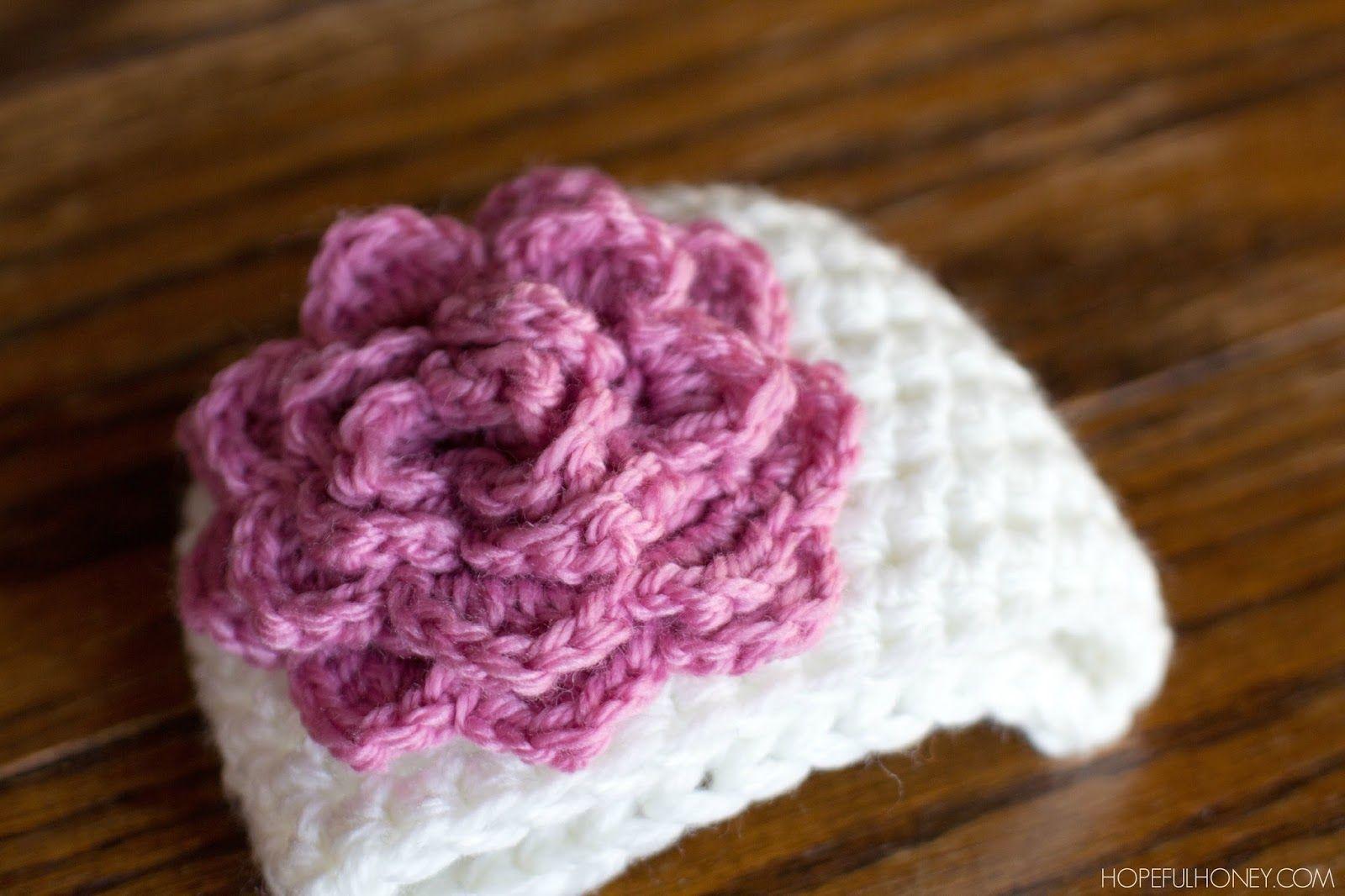 Rosy Newborn Hat - Free Crochet Pattern