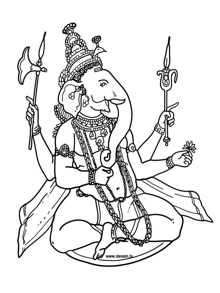 Coloring Pages Hindu Gods Ganesha Drawings All About Hinduism Coloring Pages