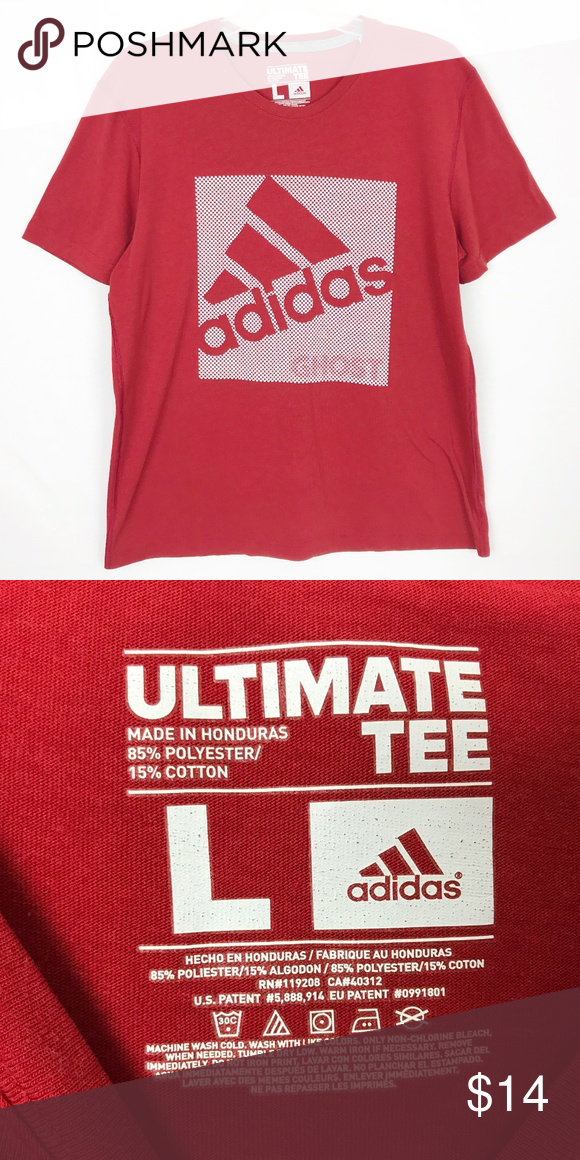 T shirts for men adidas Originals Tshirt men, cotton, red