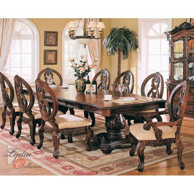 Regalia Formal Dining Room Set Mainline Furniture: Buckingham Formal Dining Room Set MainLine Furniture