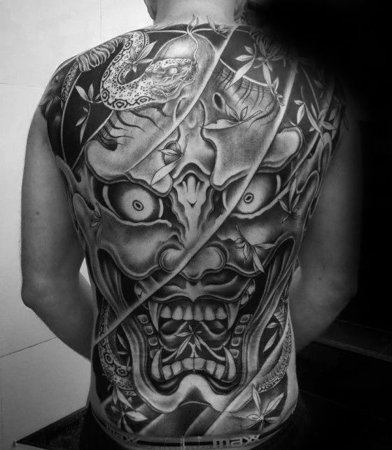 b05cf314a Someone who sports a red Hannya mask tattoo has probably gone too far over  to the dark side. The Hannya represents a woman that is overcome with  intense and ...