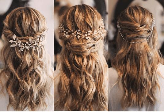 Peinados de novia paso a paso semirecogido
