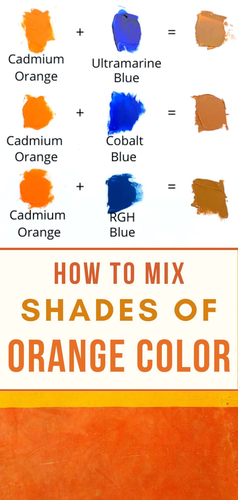 Detailed Steps How To Mix Orange Colors For Painting In 2020 Color Mixing Guide What Colors Make Orange Mixing Paint Colors