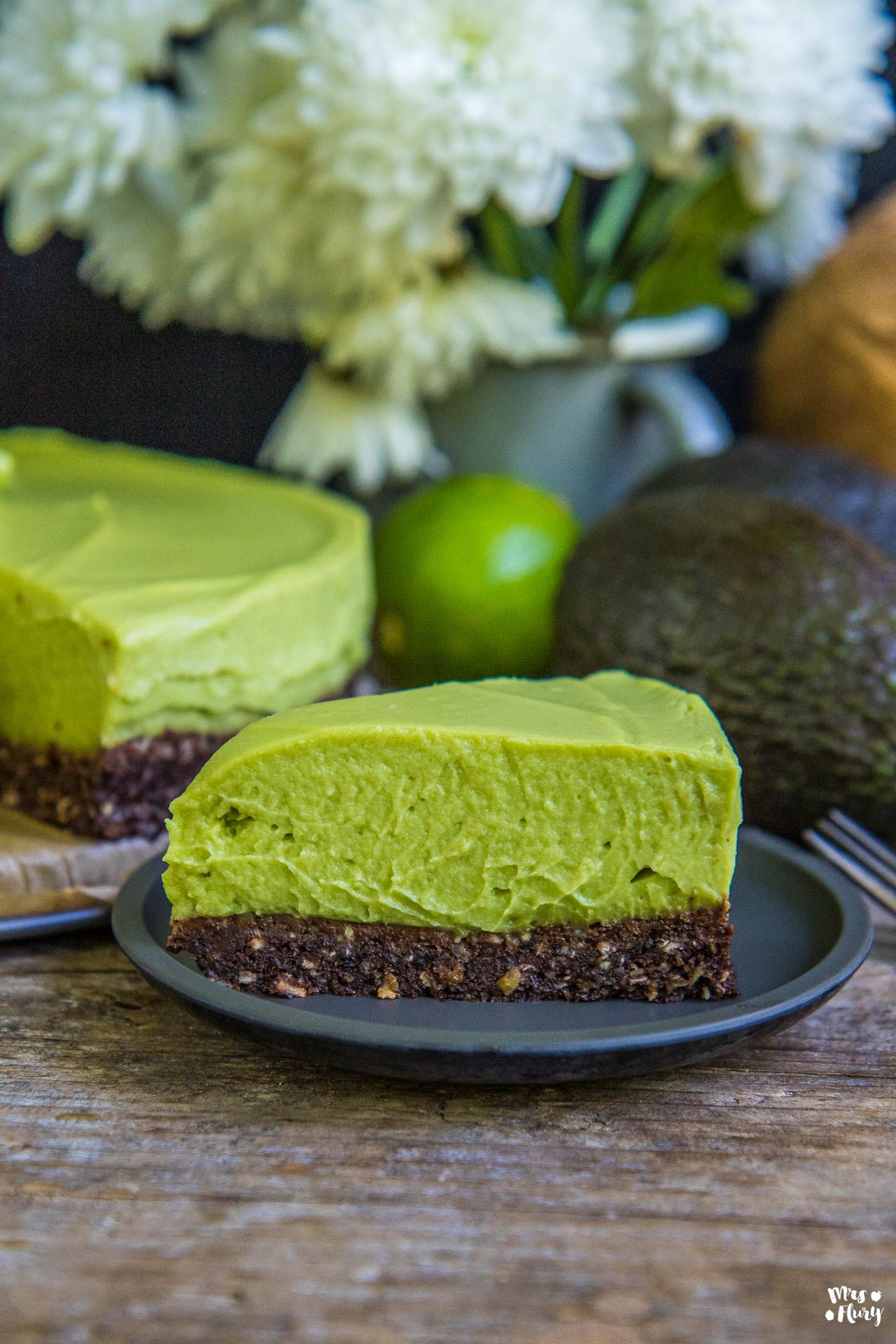Avocado Cheesecake Vegan Glutenfrei Zuckerfrei Rezept Blogger