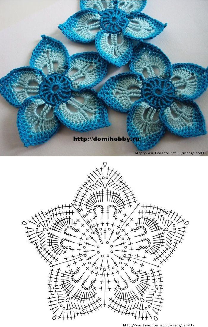 roseta penta | crochet | Pinterest | Flores, Ganchillo y Bordado
