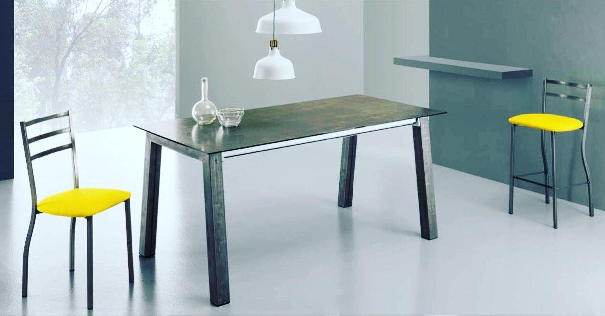 Tavolo Allungabile Piano Vetro Modello Master | Tavoli consolle ...