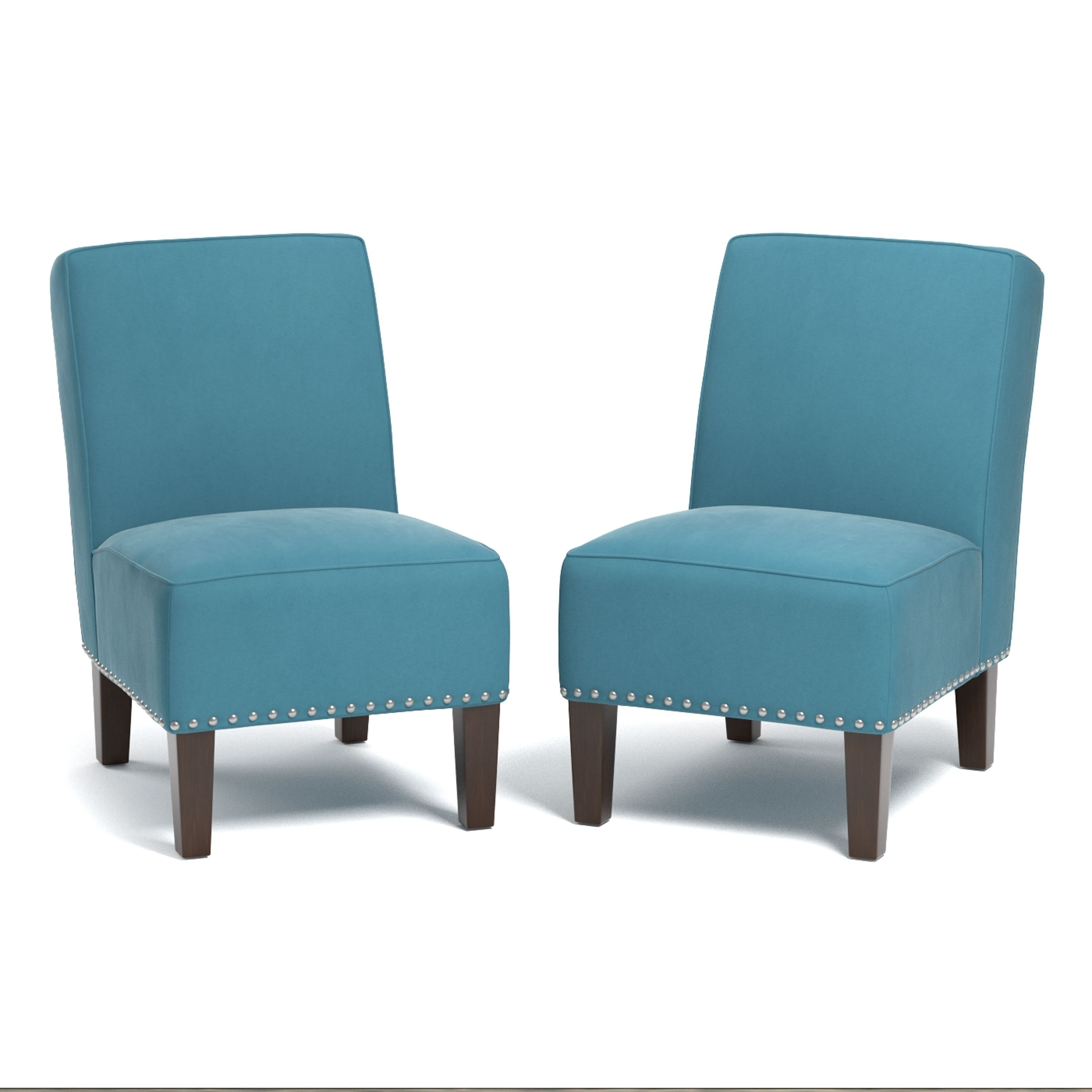 Best Handy Living Brodee Armless Chairs In Turquoise Blue 400 x 300