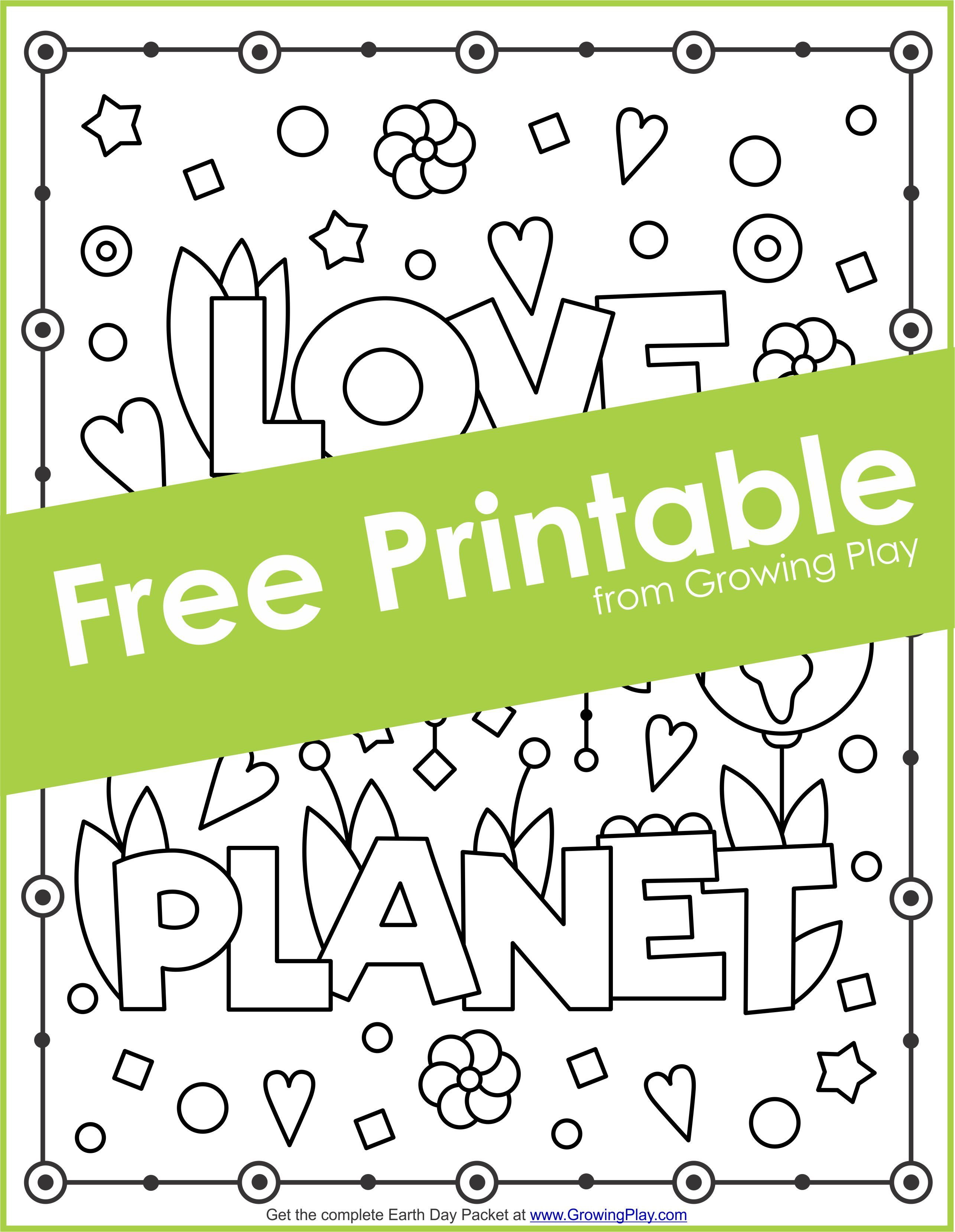 Earth Day Packet - Games, Coloring Pages and Puzzles | Growing Play ...