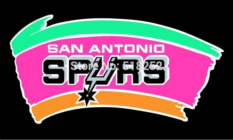 4d07131735f San Antonio Spurs: Old Fiesta Colors Logo Flag; 3'x5' | Products for ...