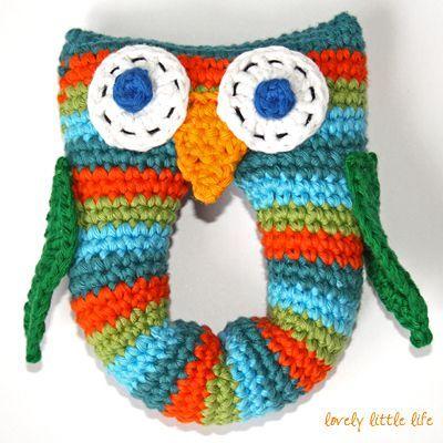 free pattern - owl rattle. | Crochet Amigurumi & Toys | Pinterest ...