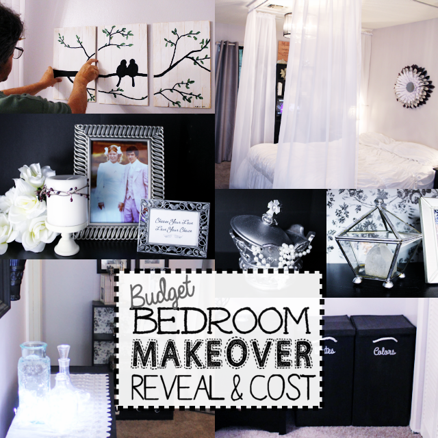 Budget Bedroom Makeover Reveal & Cost · is part of bedroom Makeover Organization - Get inspired with the final gorgeous reveal in our Budget Bedroom Makeover Series! We'll also tell you what the total cost was for us to redo the bedroom