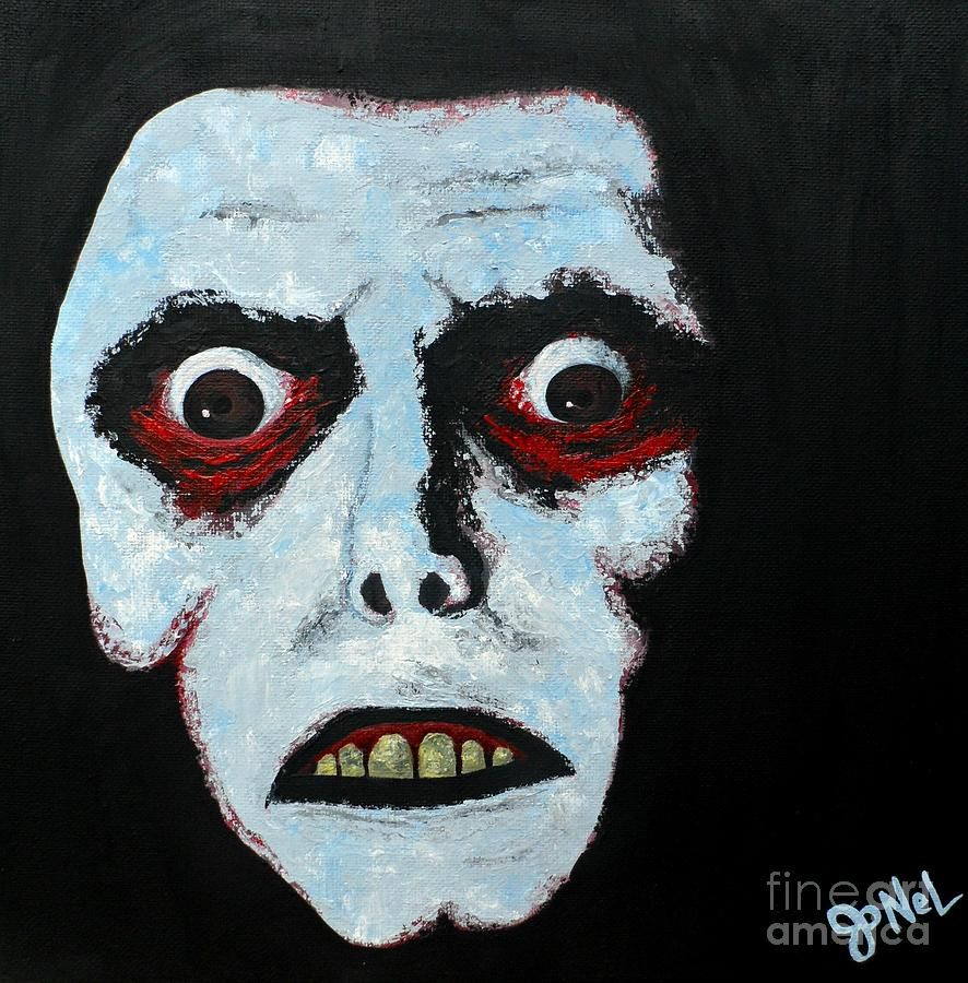 Demon Painting - Demon Face by JoNeL Art