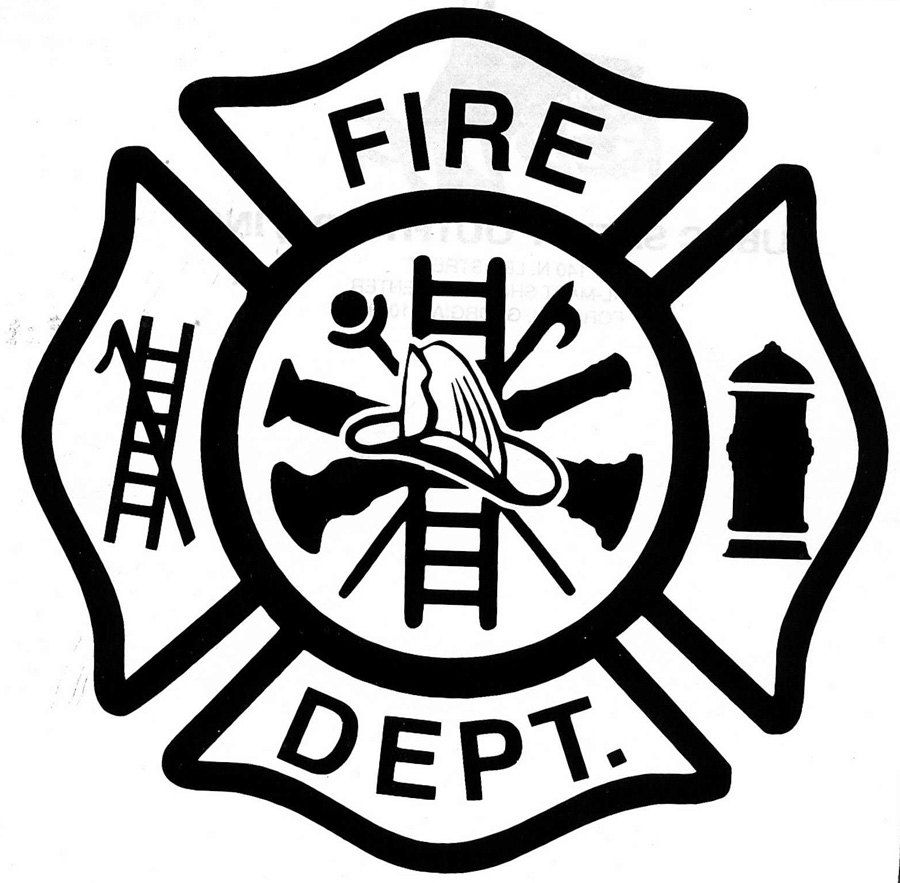 Firefighter Logo Clip Art | Custom Fire Dept Decal Maltese Cross ...