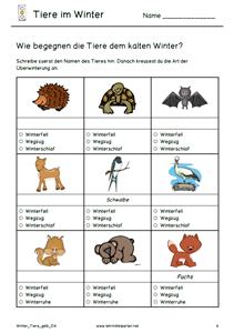 Winter Tiere gelb 1 | Iskolában... | Pinterest | Gelb, Winter und Tier